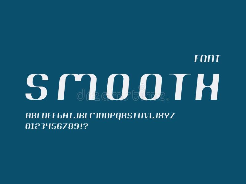 Vlotte cursieve doopvont Vector alfabet royalty-vrije illustratie