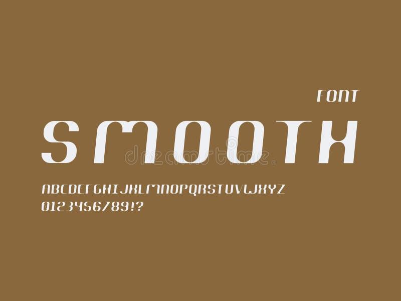 Vlotte cursieve doopvont Vector alfabet stock illustratie