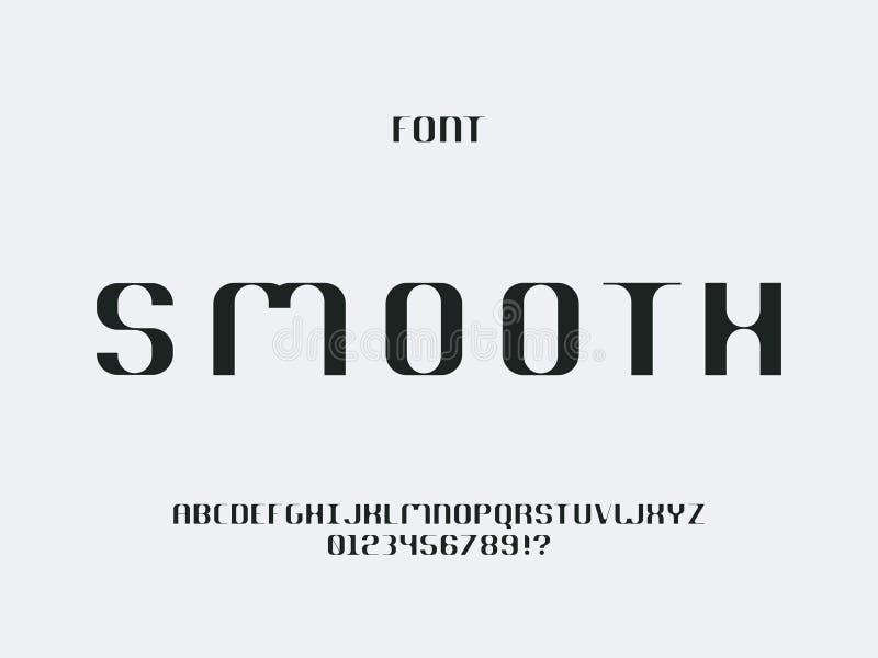 Vlotte doopvont Vector alfabet stock illustratie