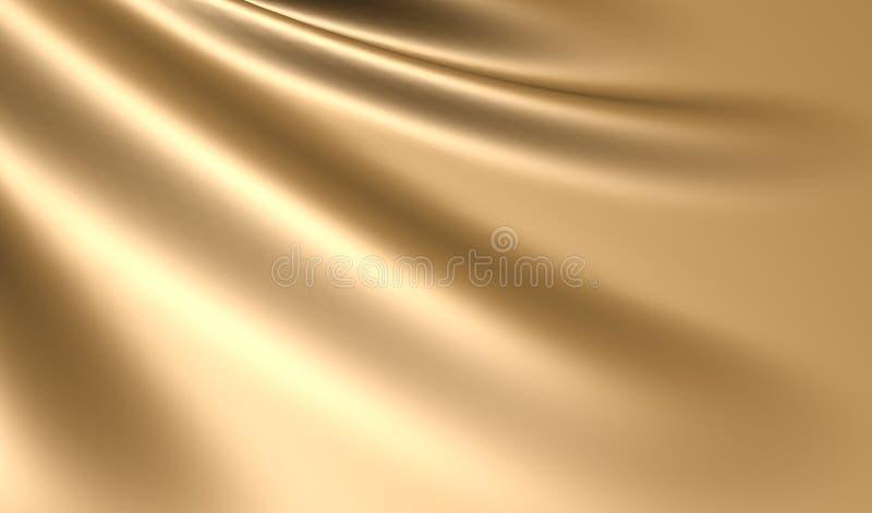 Vlotte elegante gouden zijdestof royalty-vrije illustratie
