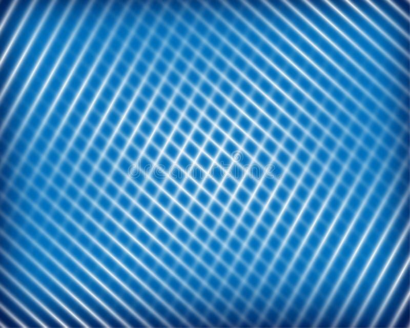 Vlotte lichtblauwe verticaal, kruisingslijnen en de abstracte achtergrond van het strokennet Goed voor bevorderingsmaterialen, br stock illustratie