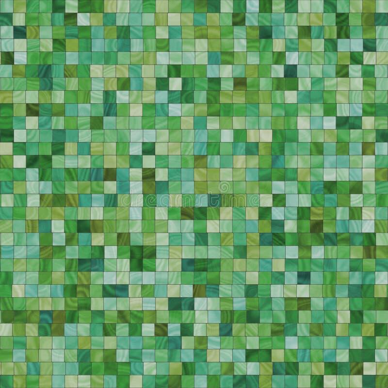 Vlotte onregelmatige groene tegels stock illustratie