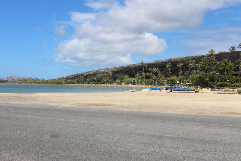 Vlotte Weg aan het Strand stock foto