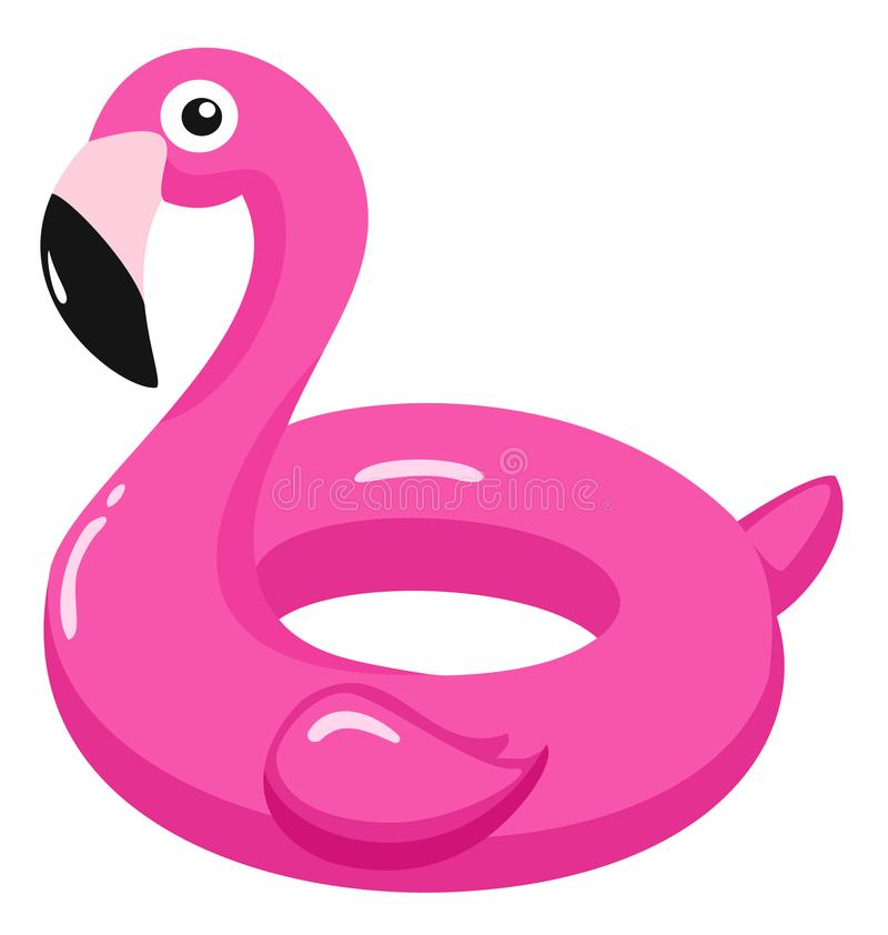 Vlotter van de flamingo de opblaasbare pool Vector illustratie royalty-vrije illustratie