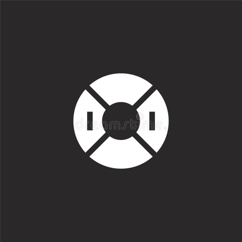 Vlotterpictogram Gevuld vlotterpictogram voor websiteontwerp en mobiel, app ontwikkeling vlotterpictogram van de gevulde inzameli stock illustratie