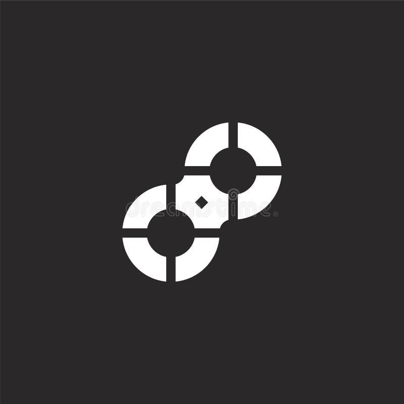 Vlotterpictogram Gevuld vlotterpictogram voor websiteontwerp en mobiel, app ontwikkeling vlotterpictogram van de gevulde inzameli vector illustratie