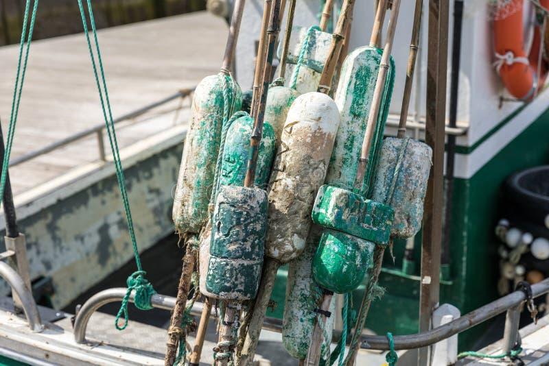 Vlotters voor visnet stock afbeeldingen