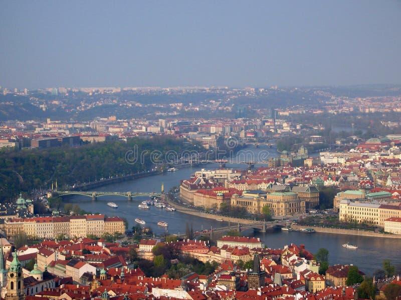 vltava реки prague стоковая фотография rf