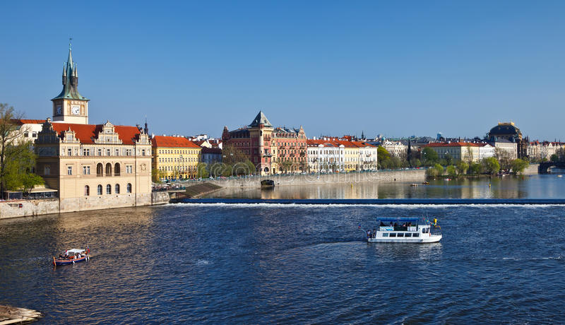 Vltava Fluss in Prag stockbild