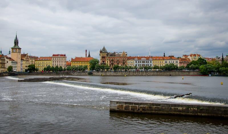 Vltava praag Tsjechische Republiek royalty-vrije stock foto