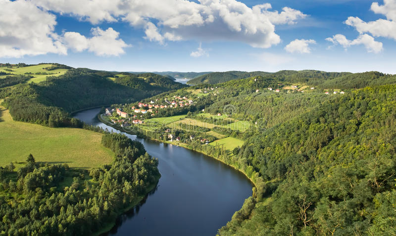 Download Vltava River stock image. Image of morning, peaceful - 21073453