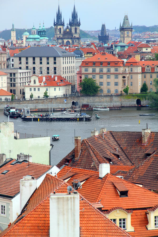 Download Vltava River From Above Prague Czech Republic Stock Photo - Image: 16058926