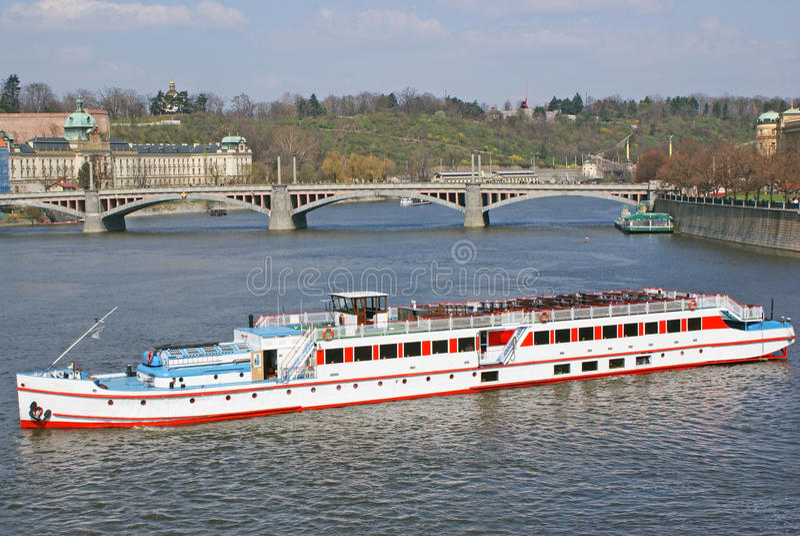 Vltava river in Prague stock image