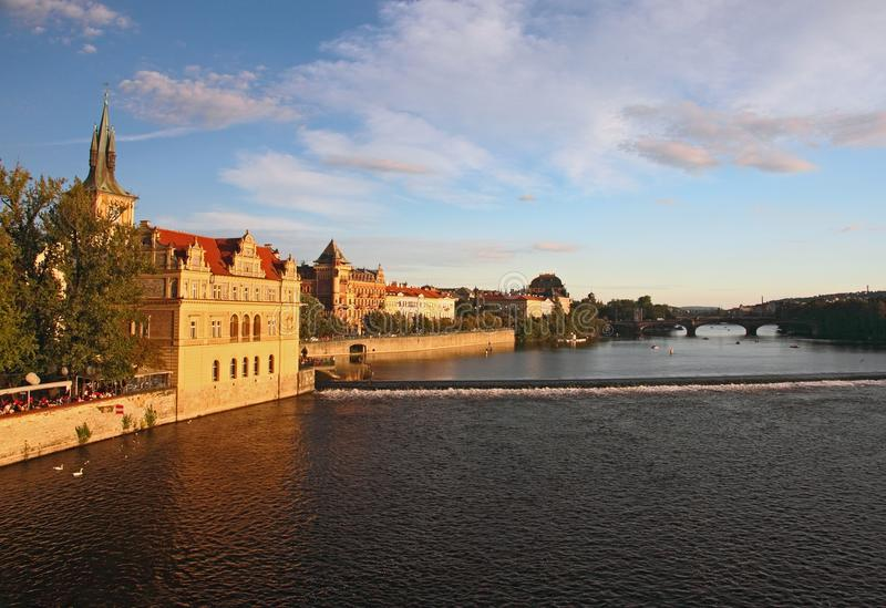 Download Vltava riverbank, Prague stock photo. Image of opera - 16080300