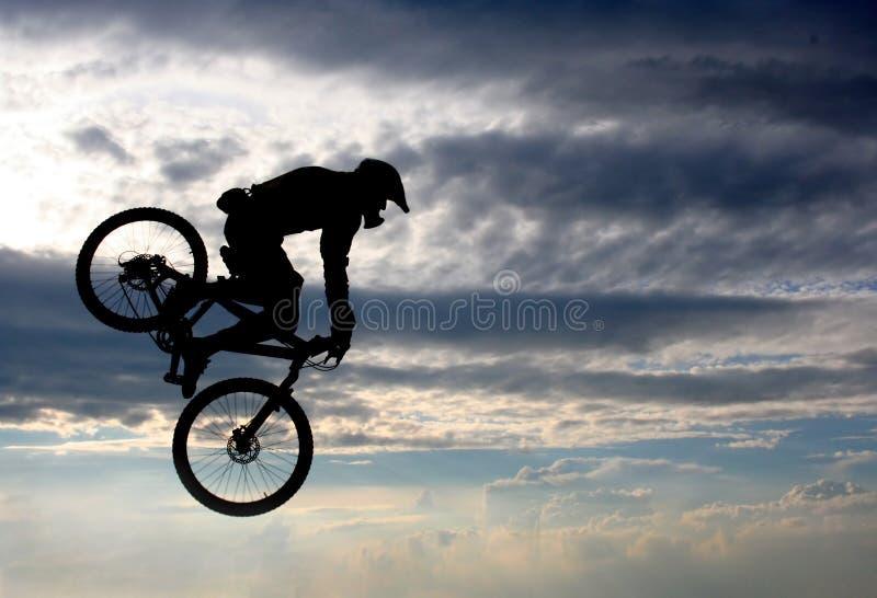 Vlucht op een fiets royalty-vrije stock afbeeldingen
