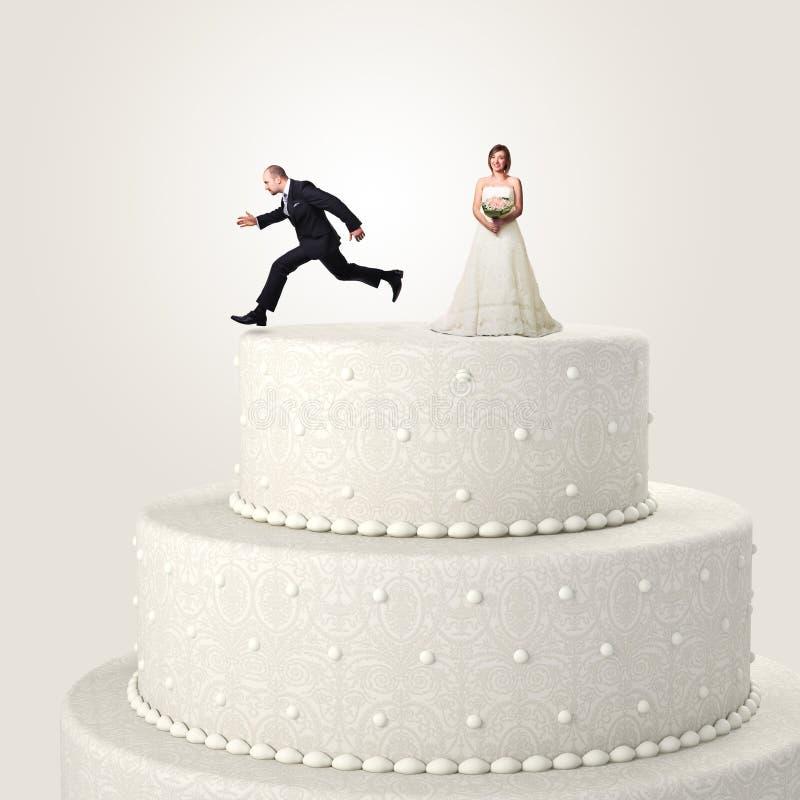 Vlucht van huwelijk royalty-vrije stock foto
