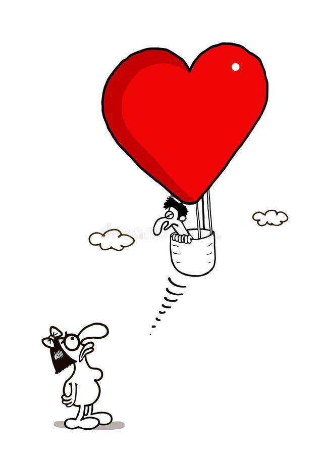 Vlucht van Liefde stock illustratie