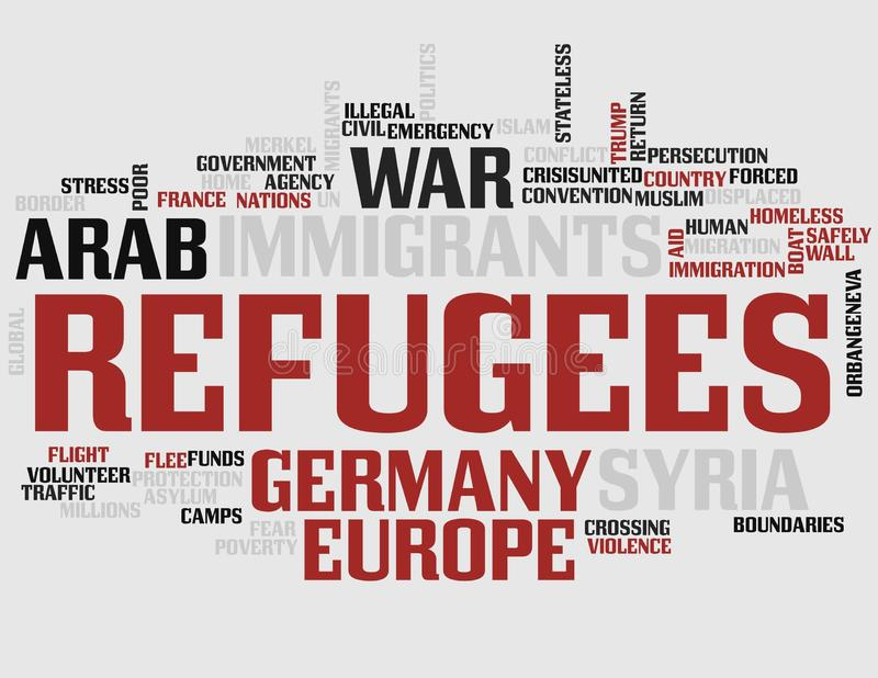 Vluchtelingenword Wolk royalty-vrije illustratie