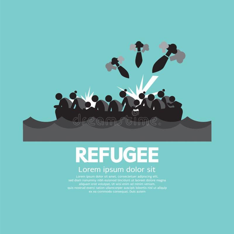 Vluchtelings Grafisch Symbool stock illustratie