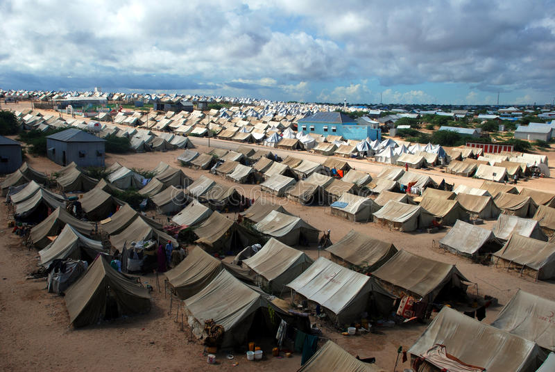 Vluchtelingskamp Ä°n Somalië royalty-vrije stock foto