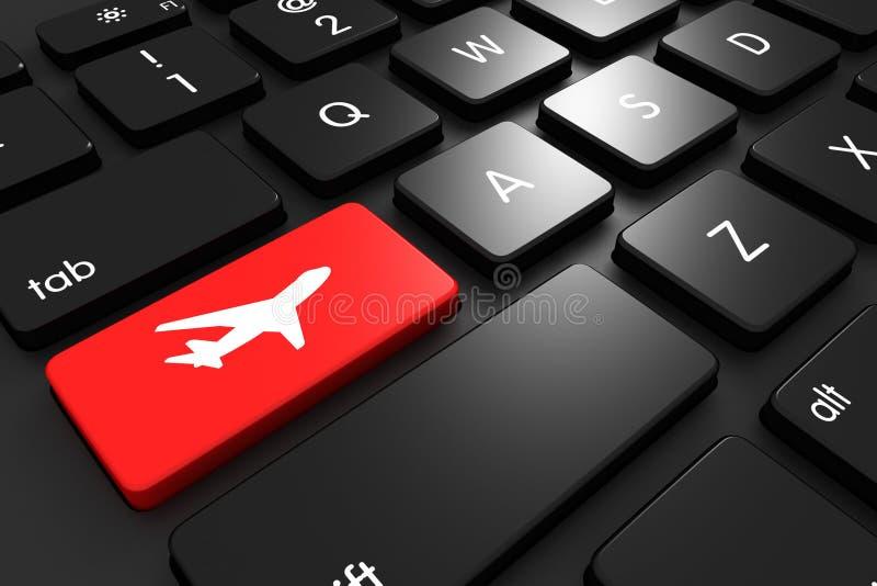 Vluchten online vector illustratie