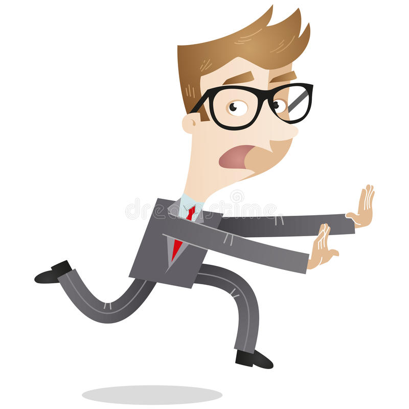 Vluchtende zakenman vector illustratie