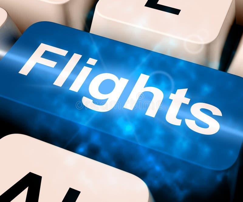 Vluchtensleutel voor Vakantie 3d Teruggeven het Overzee royalty-vrije illustratie