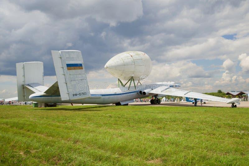 VM-τ ` Atlant ` - το βαρύ αεροσκάφος Myasishchev OKB μεταφορών συμμετέχει στον αέρα maks-2017 παρουσιάζει στοκ φωτογραφία