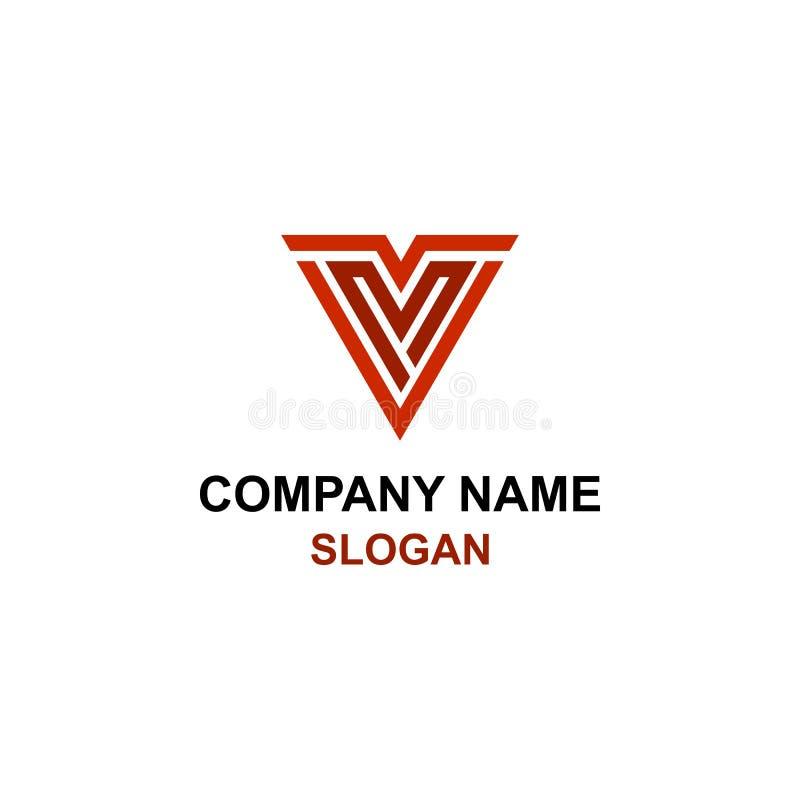 VM embleem van de brieven het aanvankelijke driehoek vector illustratie