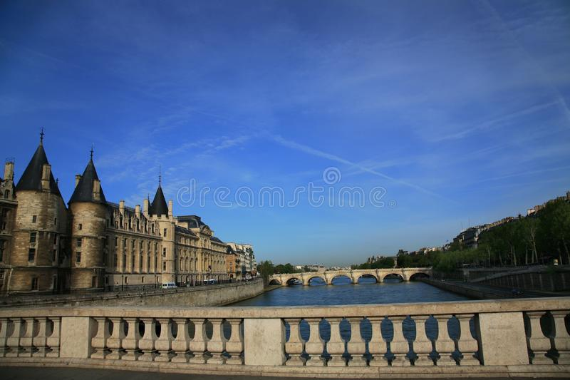 VNear Notre Dame Paris stock photo