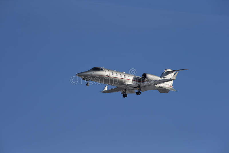 Download Business Jet Taking Off Isolated On A Blue Sky Background. Stock Photo - Image: 29729848
