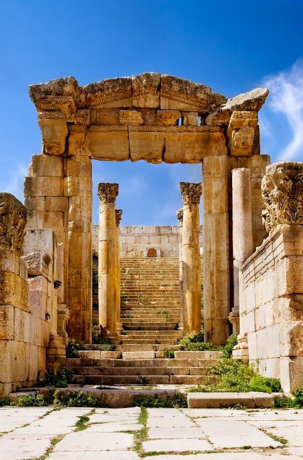 Voûte antique de dans Jerash photographie stock