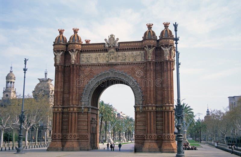Voûte, Barcelone, Espagne images libres de droits