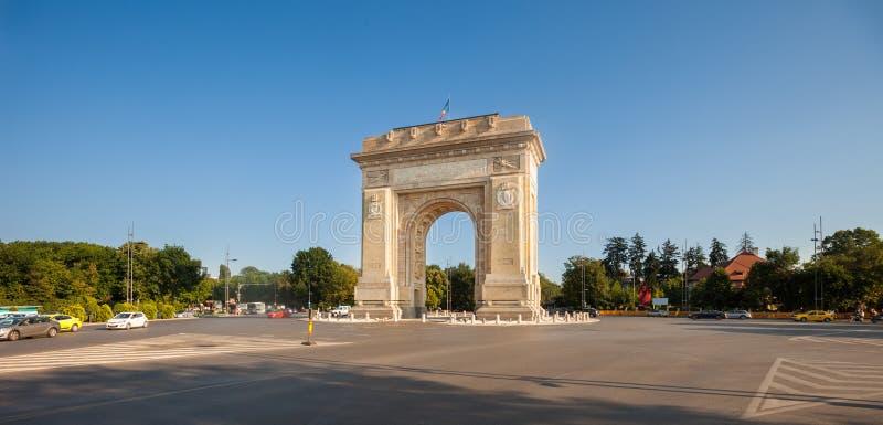 Voûte d'Arcul de Triumf Triumph, Bucarest image libre de droits