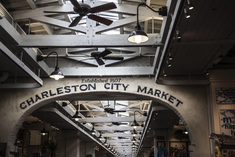 Voûte dans le bâtiment du marché de ville de Charleston en Caroline du Sud photographie stock