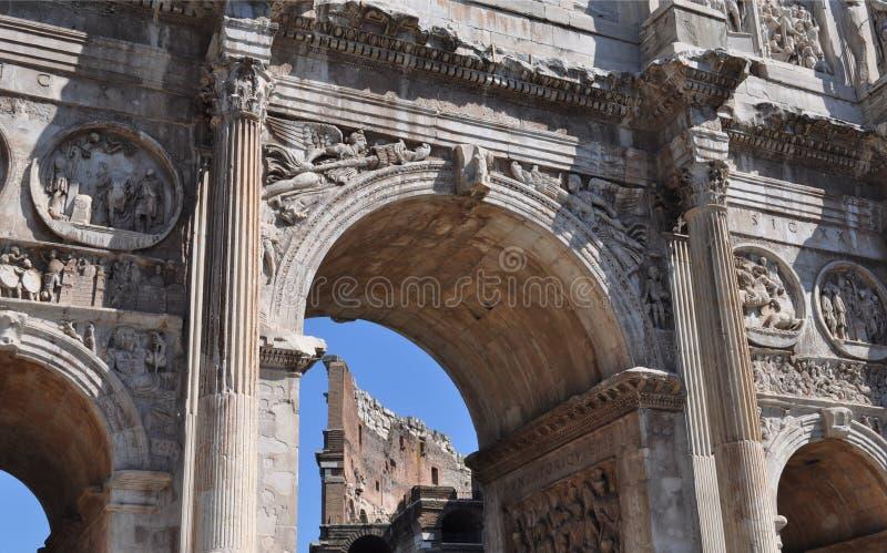 Voûte de Constantine, Rome photographie stock libre de droits