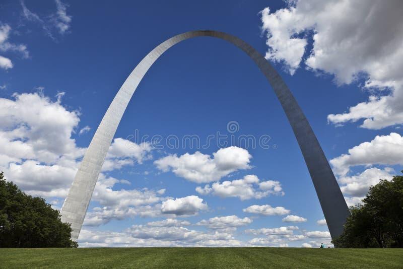 Voûte de Gateway de St Louis photographie stock libre de droits