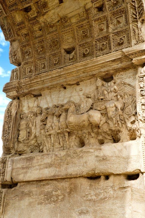 Voûte de groupe de Titus, Rome photos stock