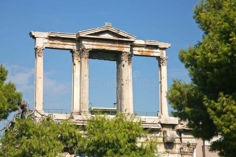 Voûte de Hadrian à Athènes image stock