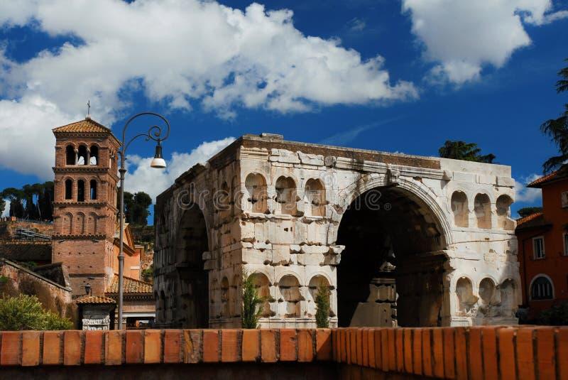 Voûte de Janus à Rome photo stock