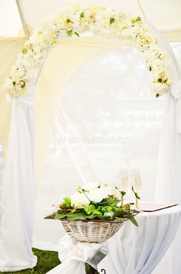 Voûte de mariage image stock