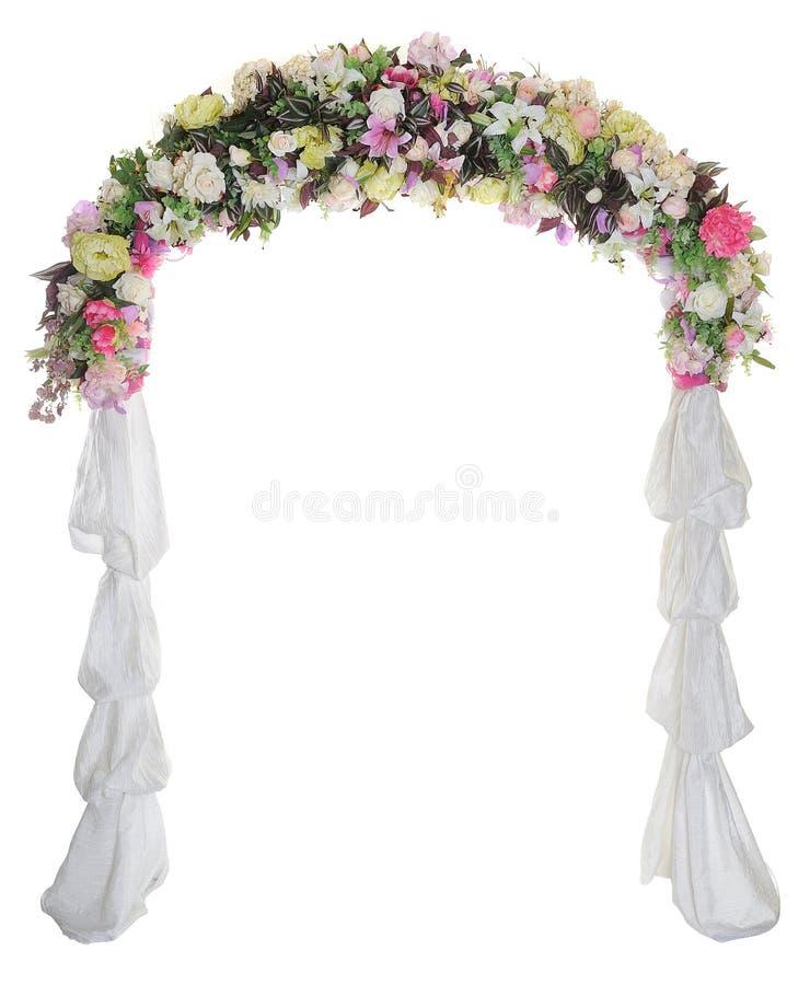 Voûte de mariage sur le fond blanc images stock