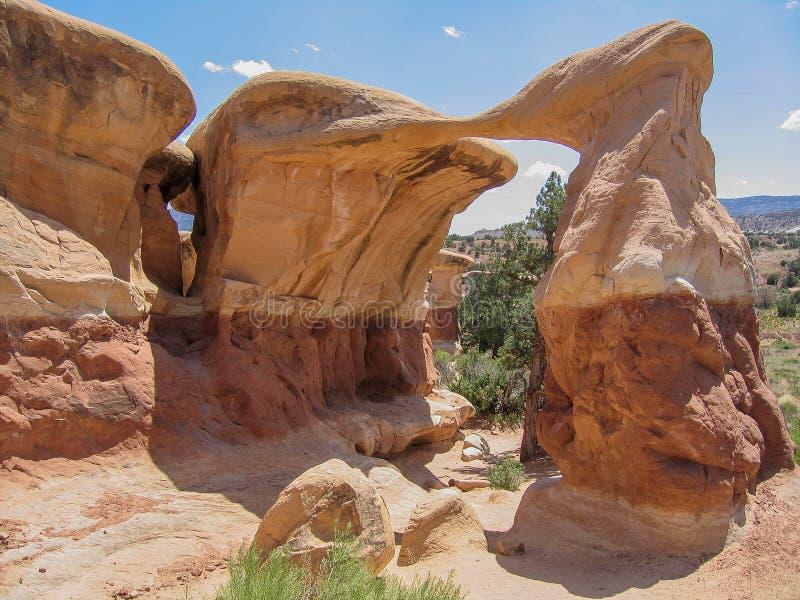 Voûte de Metate dans le jardin du diable près d'Escalante, Utah images stock