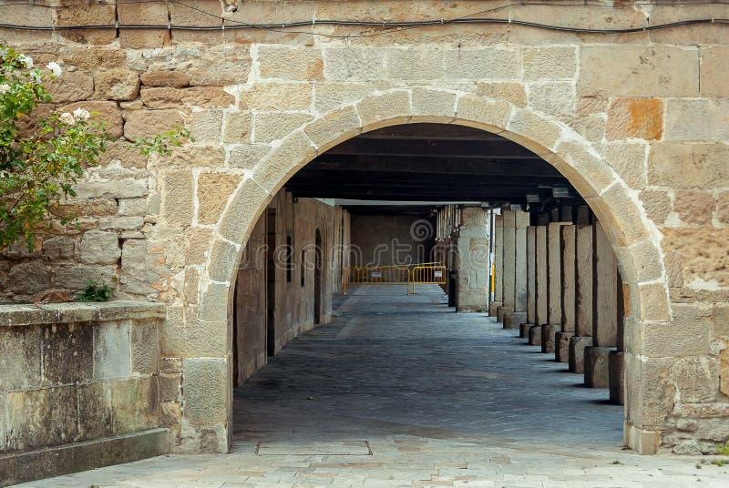 Voûte de silleria en Aguilar de Campoo Palencia images stock