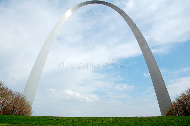 Voûte de St Louis au Missouri photographie stock libre de droits