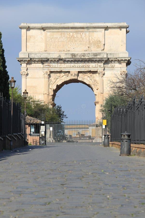Voûte de Titus à Rome images libres de droits