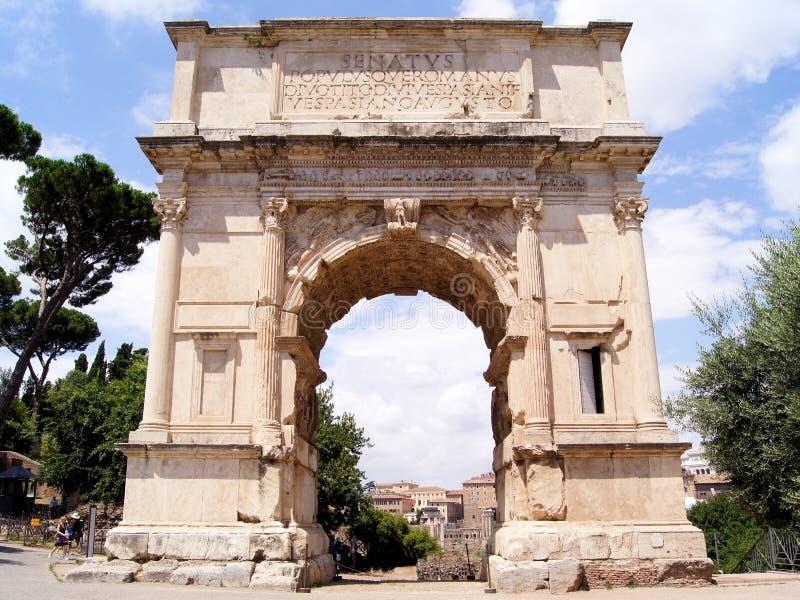 Voûte de Titus images stock