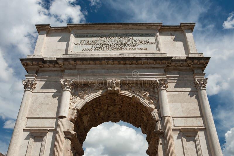 Voûte de Titus, forum romain, Rome photographie stock libre de droits