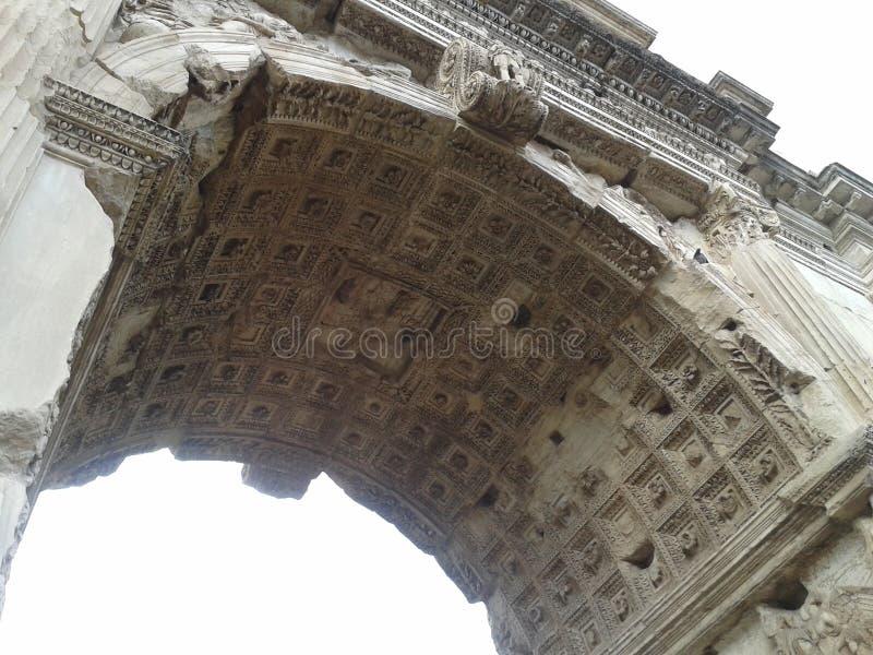 Voûte de Titus, Roman Forum, voûte, architecture, site historique, structure image libre de droits