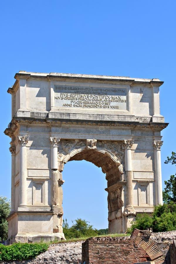 Voûte de Titus, Rome image libre de droits